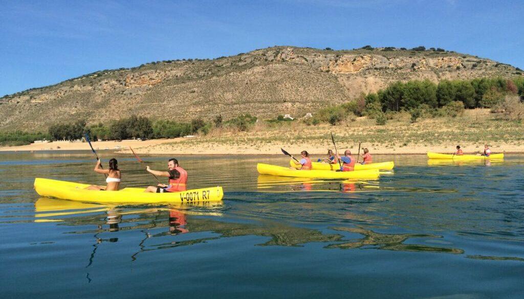 Kayak en el embalse de Iznájar 3